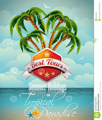vector summer holiday flyer design palm trees royalty vector summer holiday flyer design palm trees