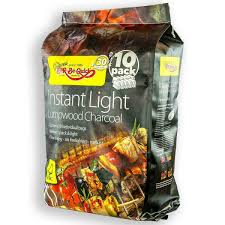 Best Instant Light Charcoal Bar Be Quick Instant Light Lumpwood Charcoal 10 Pack Bbq Lighter Fuel Large Fire