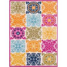 sebrina bright pink 5 ft x 7 ft indoor outdoor area rug