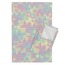 Crazy Rainbow Graph Paper On Orpington By Weavingmajor Roostery