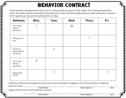 Printable Chart Printable Behavior Charts For Middle School
