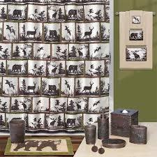 wildlife medley shower curtain bath set