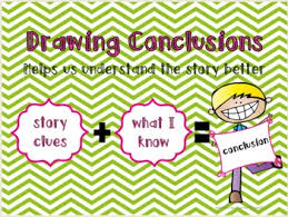 Drawing Chart Drawing Conclusions Anchor Chart Poster Graphic Organizer