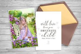 Mothers Day Card Template Fascinating Mother's Day Card Template Photo Overlay Replace Etsy
