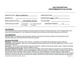 Employee Performance Evaluation Form Template Sample Job Forms ...