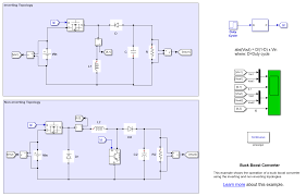 Dc Dc Converter Design Examples Buck Boost Converter Matlab Simulink
