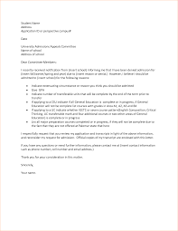 College Appeal Letter Samples Sample Financial Aid Appeal Letter