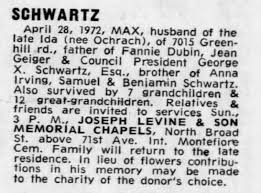 Obituary for L late Ida SCHWARTZ - Newspapers.com