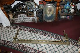 details about antique fireplace fender surround skirt copper brass 52 long arts crafts