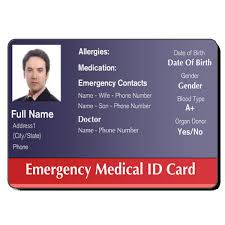 Make An Id Card Medical Id Cards Id Card Template Card Templates Badge