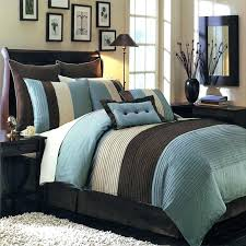 chocolate brown and blue bedding comforter set sets