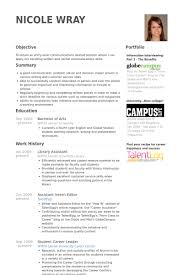 Library Assistant Resume Samples VisualCV Resume Samples Database Inspiration Library Assistant Resume