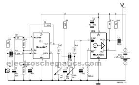 wireless fm microphone circuit fm wireless microphone circuit diagram