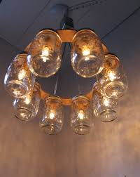 jar lighting. Wonderful Image Of Interior Lighting Decoration Using Canning Jar Lamp : Minimalist Round Hanging R