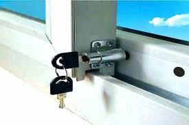sliding glass door handle with lock and key