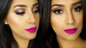 easy spring makeup tutorial 2016 bold pink lips simple bronze eyes you