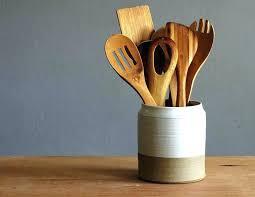 utensil jar wooden utensil holder image of ceramic kitchen vintage wood wooden utensil holder