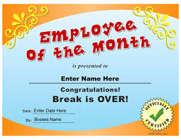 Printable Employee Of The Month Certificates Employee Of The Month Certificate Congratulations