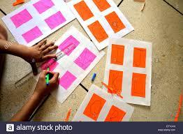 Girl Drawing Abcd On Colour Chart Mr 704 Jodhpur Rajasthan