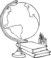 Small Picture Globe Coloring Page Clipart Free Clipart
