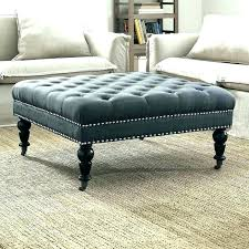 upholstered coffee table round ottoman ottomans with tray