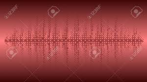 Vector Background Music Wave Balance Chart Circles Burgundy Color