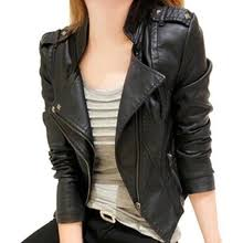 <b>black</b> leather <b>jacket slim</b> fit women — купите <b>black</b> leather <b>jacket</b> ...
