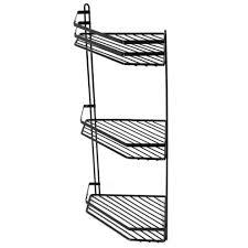 3 tier black wall mounted shower caddy rustproof corner shower basket