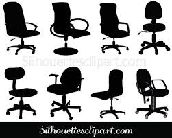office desk with chair clipart. Fine Desk Office Chair Clip Art Pack Download Silhouette Throughout Desk With Clipart