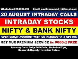 Yahoo Finance Nifty Technical Chart 20 August Intraday Calls Nifty Bank Nifty Option Chain Analysis Technical Analysis