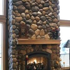 river rock fireplace surround river rocks rivers and river rock fireplaces on