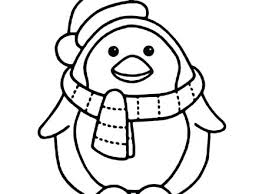 Free Printable Christmas Penguin Coloring Pages Emperor Print