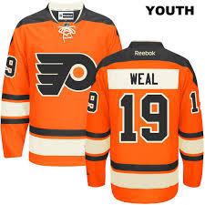 Reebok Hockey Jersey Sizing Chart Youth Jordan Weal Youth Alternate Philadelphia Flyers Stitched Authentic Reebok No 19 Orange Nhl Jersey
