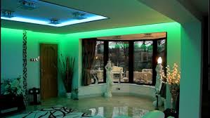 home mood lighting. green accent living room mood lighting design idea home
