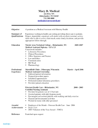 Medical Assistant Resume Objective Examples Entry Level Resume