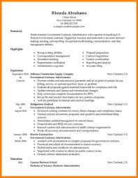 7 Government Style Resume Resume Cover Note