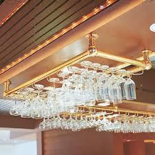 modular glass racks brass