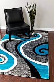 Image Havana Amazoncom 0327 Turquoise White Gray Black 52x72 Area Rug Abstract Carpet Kitchen Dining Amazoncom Amazoncom 0327 Turquoise White Gray Black 52x72 Area Rug