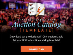 silent auction program template auction brochure template build your own charity auction catalog