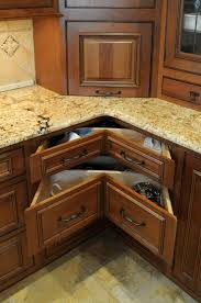Kitchen Counter Storage Kitchen Corner Drawers Storage With Granite Counter Top 5312
