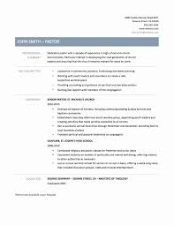 Pastor Resume Templates Best of Homely Idea Pastor Resume Template Ministry Templates All Best For
