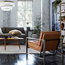 leather and metal chair. Leather And Metal Chair