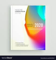 Page Design Vibrant Abstract Book Cover Page Design