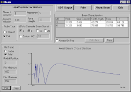 Ultrasonic Beam Spread Charts Further Chapters Ultrasonic Beam Profile Modelling