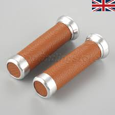 uk 2x 7 8 motorcycle leather non slip handlebar hand grips for honda cbr900rr