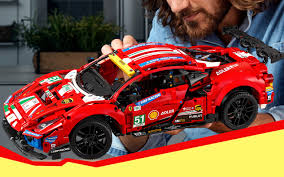 Details include a v8 engine with moving pistons, a prancing. Lego Technic Ferrari 488 Gte Af Corse 51 Set Revealed For 2021 Slashgear