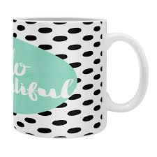 This 10oz mint green coffee snob mug is perfect for displaying your love for that delicious drink! Mint Hello Beautiful Coffee Mug Allyson Johnson