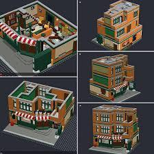 custom lego central perk modular buildings