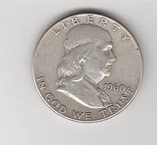1960 Half Dollar Value Chart 1960 Franklin Half Dollar Liberty Bell Coin Value Prices
