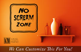 no screaming zone halloween vinyl lettering decal for your home